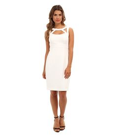 Jessica Simpson Sleeveless Body Con Dress w/ Empire Waistband and Front and Back Cut Outs