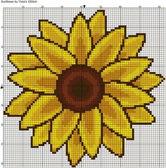 Flower free cross stitch pattern.