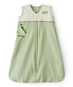 Look at this #zulilyfind! Green Peapod Color Block HALO SleepSack by Halo #zulilyfinds