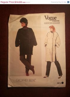 Uncut 1970's Vogue American Designer Sewing by EarthToMarrs