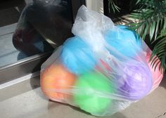 use beach balls INSTEAD of balloons at birthday parties.  They can be used for DECOR and PARTY FAVORS.