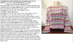Receita de Tricô: Cropped em tricô feito por Vitória Quintal