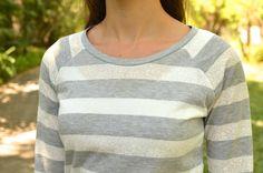 Raglan tee -- this would make such a cute sweatshirt too!