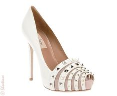 I Want! Valentino's Not-Just-for-Wedding Shoes...t'is Valentino fuses 3 of my biggest shoe-loves: spikes, multi-straps & the stiletto pump!