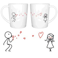 How cute are these his and hers mugs? Great gift for #Valentines! #ideas
