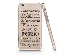 """""""I LOVE YOU"""" In Multi Languages Transparent Plastic Phone Case for iphone 6 6s _ SUPERTRAMPshop (VAS526) SUPERTRAMPshop"""