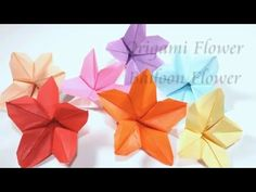How to make origami flower making paper flowers step by step diy how to make an origami balloon flower my size 1515cm mightylinksfo
