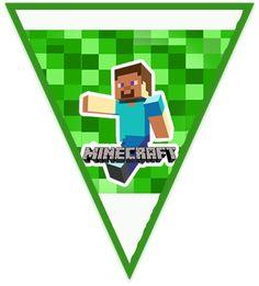 Kit imprimible candy bar Minecraft para eventos. | Candy Bar Gratis Minecraft Party, Symbols, Letters, Logos, Minecraft Birthday Card, Minecraft Invitations, Mine Craft Birthday, Invitation Cards, Events