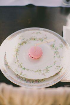 macaron place setting, photo by Dave Richards http://ruffledblog.com/west-hills-california-wedding #weddingideas #macarons