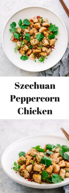 If you are craving Chinese take-out then try this delicious Szechuan peppercorn chicken recipe, made with the numbing, tongue-tingling sezchuan pepepercorn, aromatic garlic and ginger.  It has an easy marinade sauce of soy sauce, cooking wine and corn starch.