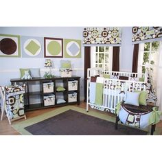 Blue and Brown Baby Boy Crib Bedding Baby bedding, blankets, and ...