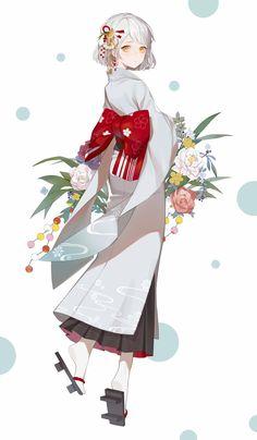 ArtStation - 和服少女, Gin ♥