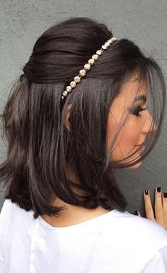30 Short Wedding Hairstyles You Will Love in 2019 - - Frisuren - Simple Wedding Hairstyles, Short Hairstyles For Women, Easy Hairstyles, Natural Hairstyles, Wedding Hairstyle Short Hair, Bride Short Hair, Wedding Hair For Short Hair, Dance Hairstyles, Hairstyles Pictures