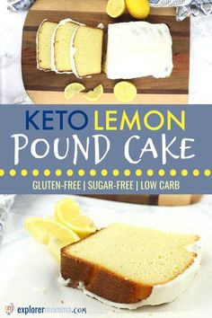 It's fabulous for a gluten-free tea time, to replace your favorite coffee shop snack, or sugar-free breakfast. Did I mention it's also packed with 9 grams of protein? Gluten Free Pound Cake, Pound Cake Recipes, Gluten Free Cakes, Cheesecake Recipes, Dessert Recipes, Sugar Free Lemon Pound Cake Recipe, Dinner Recipes, Sugar Free Desserts, Low Carb Desserts