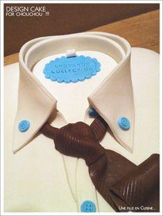 Cake Design Chemise d'Homme ! ©Une Fille en Cuisine