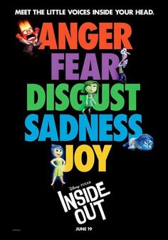 Disney Pixar - Inside Out. I am excited over the significance of this film. Can't wait to see if it's as good as the trailers make it out to be.