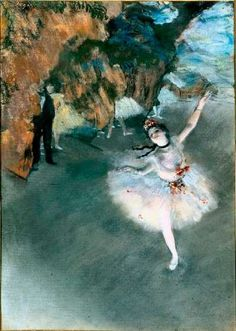 Hilaire-Germain-Edgar Degas's (French 1834 - 1917). The Star (L'Étoile,1878). Pastel on paper (23-5/8 x 17-3/8 inches). Musée d'Orsay, Paris.