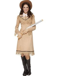 western authentic annie oakley costume dress with necktie,badge&gloves Cowboy And Indian Costume, Western Costumes, Indian Costumes, Cowgirl Costume, Pirate Costumes, Adult Costumes, Mummy Costumes, Horse Costumes, Cowgirl Fancy Dress