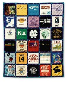 A great gift for your child, teen or someone going off to college. T-Shirt Memories Quilt Pattern keeps memories of good times close.