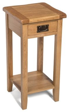 Small-Oak-Side-Table-Narrow-Wooden-End-Lamp-Bedside-Cabinet-Nightstand