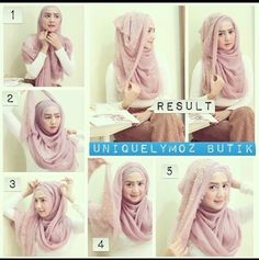 Style your hijab Square Hijab Tutorial, Simple Hijab Tutorial, Hijab Style Tutorial, Hijab Wear, Turban Hijab, Hijab Outfit, Beautiful Muslim Women, Beautiful Hijab, Bridal Hijab
