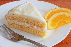 Bizcocho de naranja con merengue