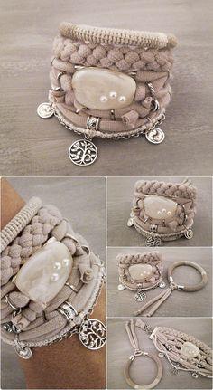 Three of Life Oatmeal Gypsy Bracelet Bohemian Jewelry Boho