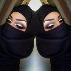 ماكياج جميلة  What's the point of wearing a hijab if you have on a face full of make??