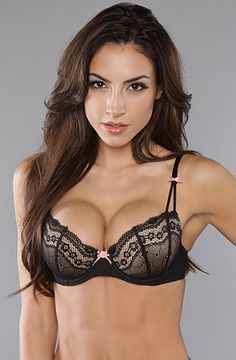 2940fbde50 The Eyelet Lace Bra in Raven Black by Betsey Johnson Lacey Black