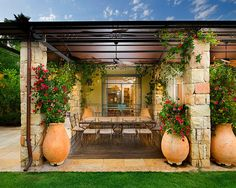 Love the terra-cotta pot and use of stone.  Herb Garden In A Pot Design, Pictures, Remodel, Decor and Ideas - page 15