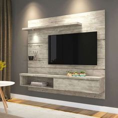 3 Gracious Cool Ideas: Floating Shelf Above Bed Pictures floating shelves hallway storage.Floating Shelves Storage Home Office floating shelves bedroom clothes.Floating Shelf Above Bed Pictures. Modern Tv Cabinet, Modern Tv Wall Units, Tv Cabinet Design, Tv Wall Design, Shelf Design, Modern Wall, Bedroom Wall Decor Above Bed, Tv Wall Decor, Bedroom Decor