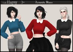 Sims 4 CC's - The Best: Jamanako Blouse by LadyHayny