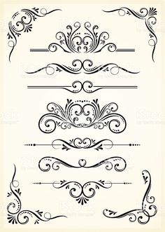 A black scroll set on tan paper royalty free a black scroll set on tan paper stockvectorkunst en meer beelden van art deco