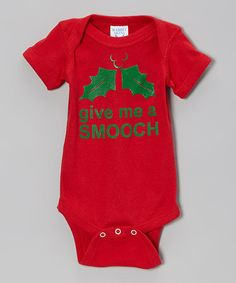 Take a look at this Red 'Give Me a Smooch' Bodysuit - Infant on zulily today!