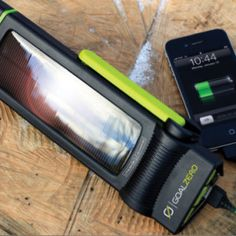 Sweet flashlight that charges your phone. #camping #solar