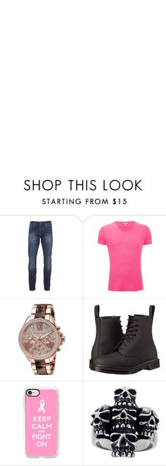 """Breast Cancer Awareness Month- Toni"" by loveemestill ❤ liked on Polyvore featuring Scotch & Soda, Orlebar Brown, Michael Kors, Dr. Martens, Casetify, Mia Sarine, men's fashion and menswear"