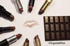 Su #LipstickPost : Piccola guida al #rossettomarrone per labbra color #cioccolato