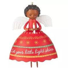 Let Your Light Shine Angel Ornament,