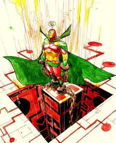 Mister Miracle by Riley Rossmo Comic Book Artists, Comic Book Characters, Comic Character, Comic Books Art, Comic Art, Character Design, Free Dc Comics, Joker Dc Comics, Dc Comics Art