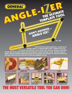 General Tools 836 Angle-izer Template Tool - Angle Izer Instant Template…