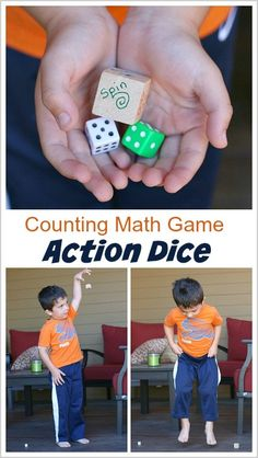 Gross Motor Math Game for Kids: Counting Action Dice (Fun way for toddlers and preschoolers to practice counting and one-to-one correspondence!) ~ BuggyandBuddy.com