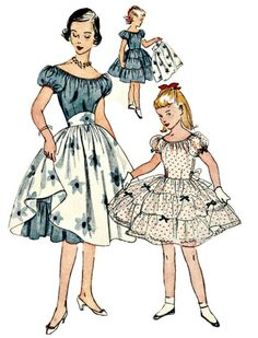 1950's Girl's Rockabilly Dress Pattern  SIMPLICITY 3838  1952 Vintage Sewing Pattern  Bust 32