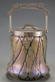 Art Nouveau Art Glass Biscuit Barrel by Wilhelm Kralik Sohn Art Nouveau, Antique Glass, Antique Art, Vintage Art, Decoration, Art Decor, Jugendstil Design, Pots, Objet D'art