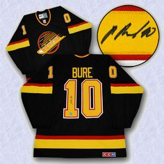 Pavel Bure Vancouver Canucks 1994 Vintage Jersery.  Bure is a 2012 Hall of Fame Inductee.  Visit www.slapshotsignatures.com