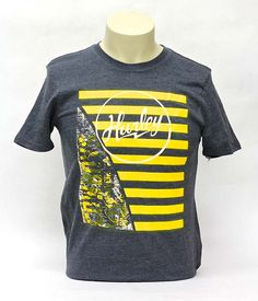Hurley Striped Cowboys Charcoal Tee   University of Wyoming Store - $26.99