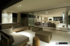 Completed in 2007 in Cape Town, South Africa. Images by Wieland Gleich, Karl Beath. The owners brief was to design a dramatic, memorable house. The house needed to suit his specific aesthetic considerations and have the flexibility. Modern Villa Design, Modern Interior Design, Stylish Interior, Modern Interiors, Double Storey House, Small Basements, House Of Beauty, Minimalist Home, Home And Living