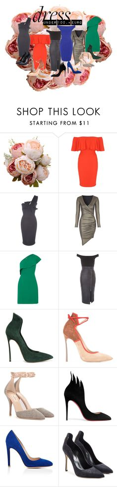 """""""Look fabulous with dresses under 100,= euro"""" by s-a-m-hoogland ❤ liked on Polyvore featuring Jane Norman, Whistles, Casadei, Valentino, Christian Louboutin, Gianvito Rossi, Sergio Rossi, happy, be and fabulous"""