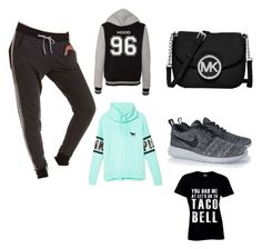 """""""Untitled #3"""" by natalie-brooke-i on Polyvore featuring Charlotte Russe, Victoria's Secret PINK, MICHAEL Michael Kors and NIKE"""