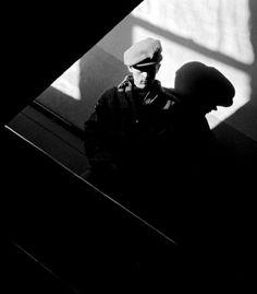 James Dean photographed at his former high school in Fairmount, Indiana (1955) Photographer: Dennis Stock (via)