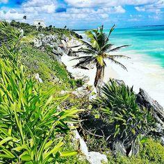 Weten jullie over welke Maya Ruine het gaat op deze foto?  Tips - Mexico 🇲🇽 - aan de kust gelegen 🌴🏖️ #mexico #mayasite #sea #beach #ruine #travel #travelling #travelgram #instatravel #travelgirl #instatravel #instapic #healthyandtraveltrips